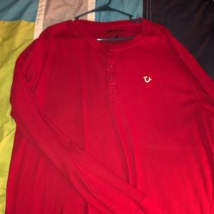 True religion partly button thermal